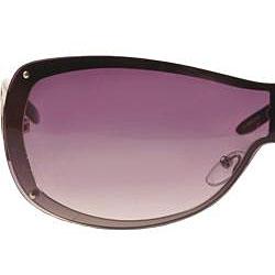 XOXO Women's Double Vision Black Shield Sunglasses
