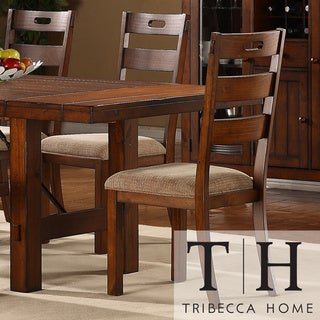 TRIBECCA HOME Swindon Rustic Oak Classic Dining Chair (Set of 2)