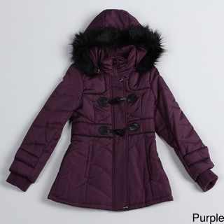 Jessica Simpson Girl's Purple Toggle Coat