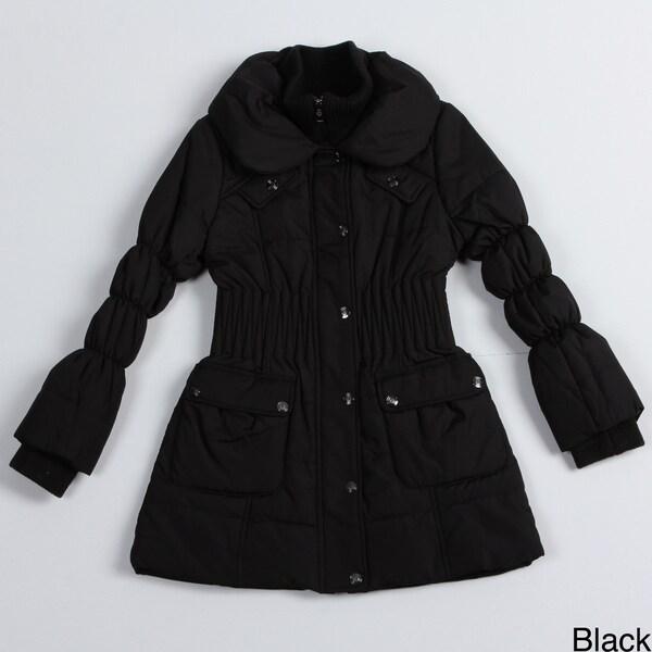 Jessica Simpson Girl's Crinkle Waist Coat