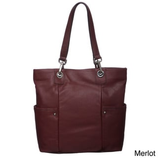 Perlina Sharon Leather Tote Bag