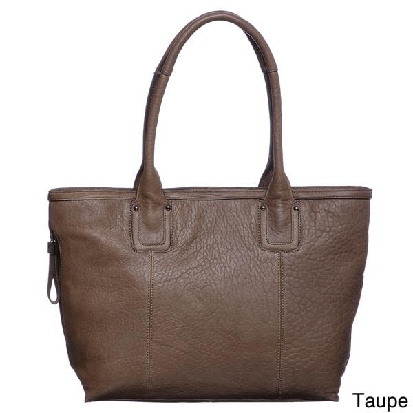 Perlina Cythina Leather Tote Bag