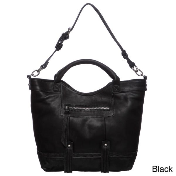 Perlina Samantha Leather Tote Bag