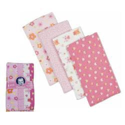 Gerber Flannel Diaper Burp Cloths (Pack of 4)