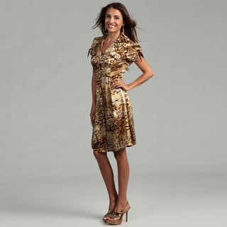 Issue New York Women's Animal Print Silk Shirt Dress
