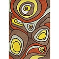 Metro Hand-made Brown New Zealand Blend Wool Area Rug (5' x 8')