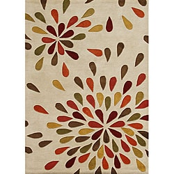 Alliyah Handmade Sand New Zealand Blend Wool Rug (5' x 8')