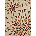 Metro Hand-made Sand New Zealand Blend Wool Area Rug (5' x 8')