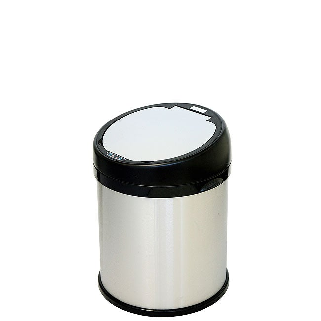 iTouchless 8 Gallon Sensor Touchless Trash Can Stainless Steel Round Extra-Wide Opening