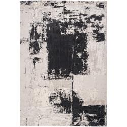 Woven Black Northeastern F Abstract Design Rug (7'10 x 10'6)