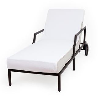 Authentic Turkish Cotton Standard Size Chaise Lounge Towel White Cover