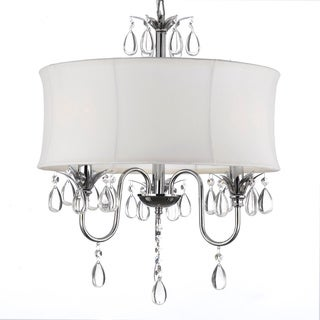 Gallery Crystal 3 Light Chandelier with Large White Shade