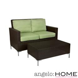 angelo:HOME Napa Springs Bamboo Green Indoor/ Outdoor Set