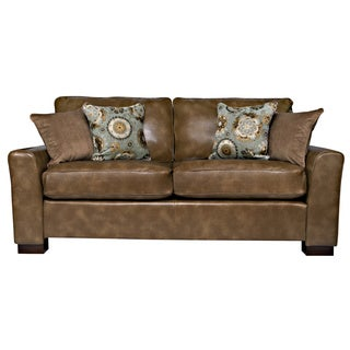 angelo:HOME Spencer Milk Chocolate Brown Renu Leather Sofa