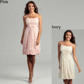 Issue New York Women's Lace Bubble Hem Dress