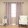 Laurel Damask Grommet 95 inch Curtain Pair