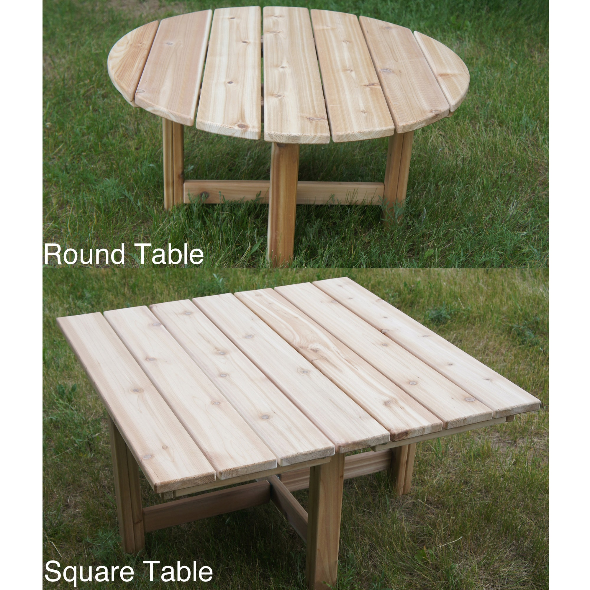 Phat Tommy Western Red Cedar Folding Outdoor Patio Table