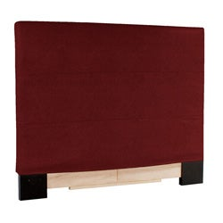 Slip-covered King-size Red Faux Leather Headboard