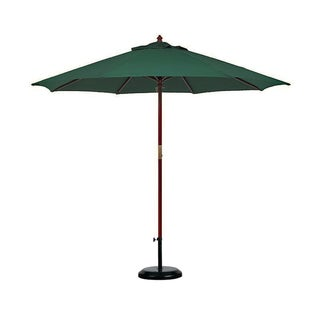 Hunter Green Olefin Dark Hard Wood 11-foot Market Umbrella With Stand