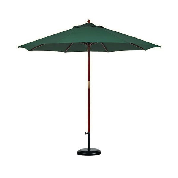 Lauren & Company Hunter Green Olefin Dark Hard Wood 11-foot Market Umbrella With Stand