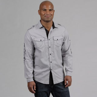 Modern Culture Men's Contrast Stitching Woven Shirt  FINAL SALE