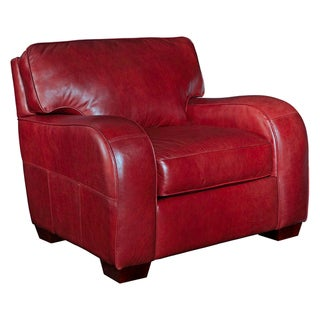 Broyhill Melanie Red Leather Chair