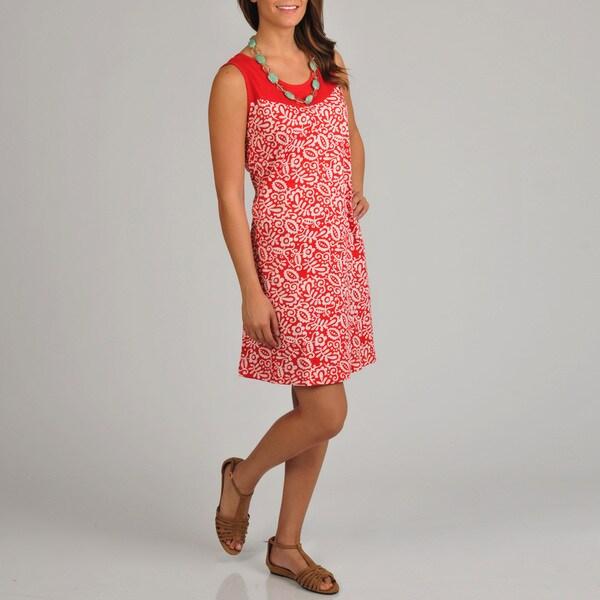 La Cera Women's Floral Print Dress