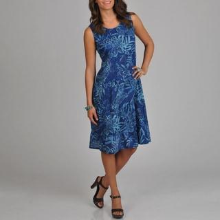 La Cera Women's Floral Print Tiered Dress