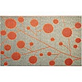 Cotton Ball 4' x 6' Indoor/Outdoor Reversible Area Rug by b.b.begonia