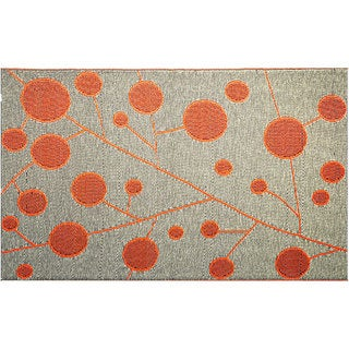 b.b.begonia Cotton Ball Reversible Design Orange and Black Outdoor Area Rug (4' x 6')
