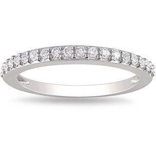 Miadora 14k White Gold 1/4 CT TDW Diamond Ring (H-I, I2-I3)