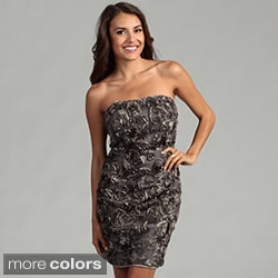 Issue New York Women's Strapless Rosette Dress