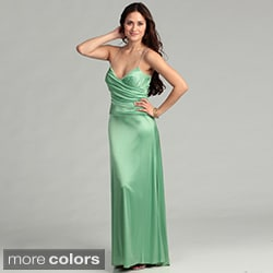 Issue New York Women's Crystal Straps Evening Dress