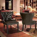 Christopher Knight Home Kingdom Leather Accent Chairs (Set of 2)