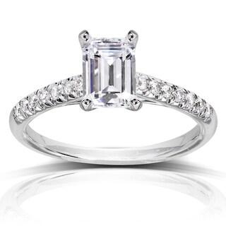 Annello 14k White Gold 1 1/6ct TDW Diamond Engagement Ring (H-I, SI1-SI2) with Bonus Item