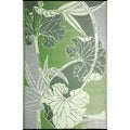 Blossom Green Recycled Indoor/ Outdoor Mat (4' x 6')