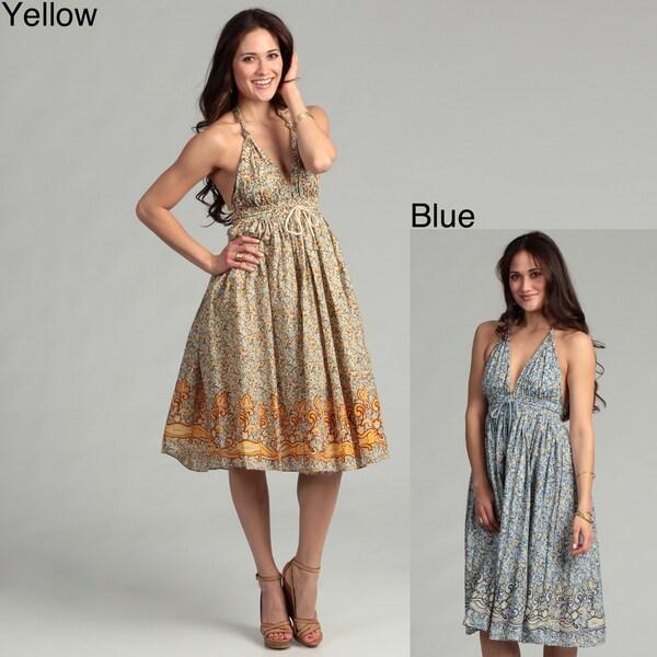 Issue New York Women's Cotton Floral Halter Dress