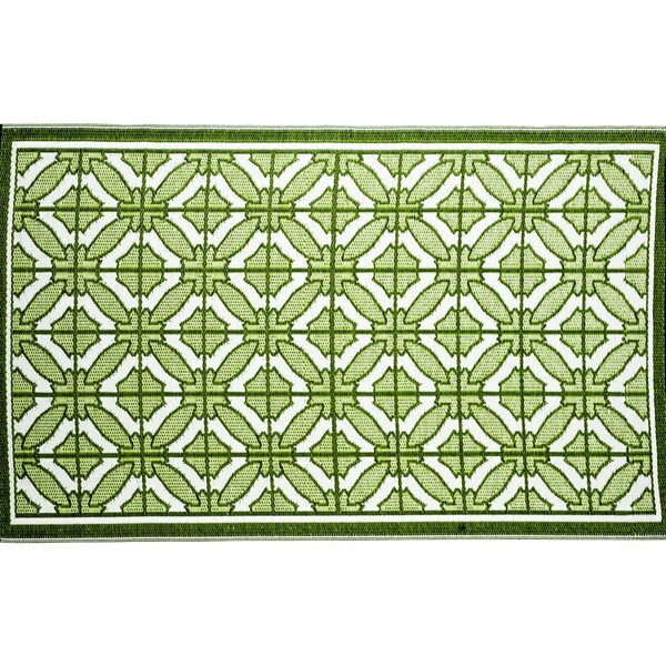 b.b.begonia Bali Reversible Design Green and White Outdoor Area Rug (5' x 8')