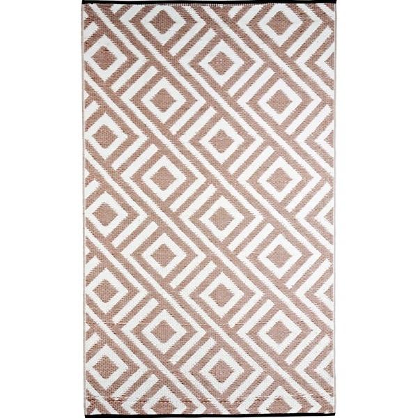 b b begonia malibu reversible design beige and white outdoor area rug 6 x 9 14296287