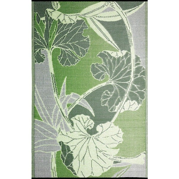 b.b.begonia Blossom Reversible Green/ Grey Outdoor Area Rug (5' x 8')