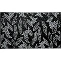 b.b.begonia Arctic Reversible Design Black and White Outdoor Area Rug (5' x 8')