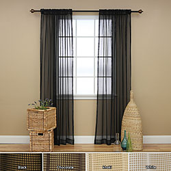 Mesh Rod Pocket 84-inch Curtain Panel Pair