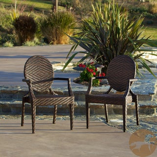Christopher Knight Home Adriana PE Wicker Outdoor Chairs (Set of 2)