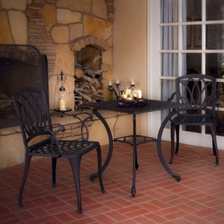 Christopher Knight Home Dunbar Cast Aluminum 3-piece Outdoor Dining Set