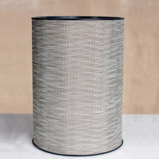 1530 LaMont Home Aiden Round Taupe Semi-smooth Woven Wastebasket