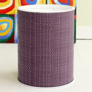 1530 LaMont Home Brights Round Grape-purple Woven Wastebasket