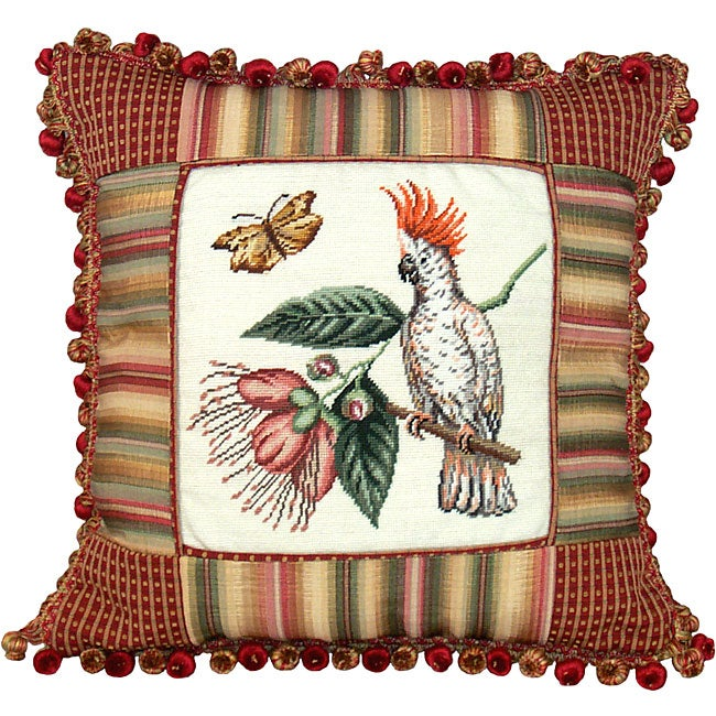 Cockatoo Petit Point Pillow