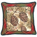 Pine Cone Needlepoint Pillow