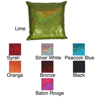 Jazzy Sequins 17-inch Square Pillow