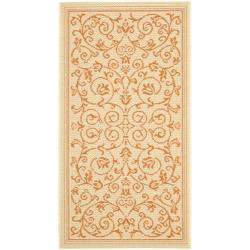 "Safavieh Poolside Natural/Terracotta Indoor Outdoor Polypropylene Rug (2' x 3'7"")"